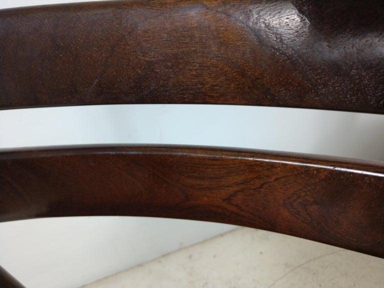 Scandinavian Modern Danish Modern Set of Six Rosewood Dining Chairs H W Klein for Bramin For Sale