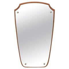 Danish Modern Shield Mirror