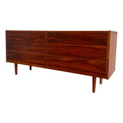 Danish Modern Six Drawer Dresser in Walnut