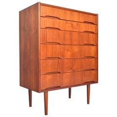 Danish Modern Six-Drawer Teak Modernist Dresser