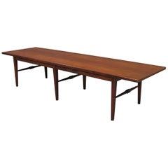 Danish Modern Six-Legged Rosewood Coffee Table