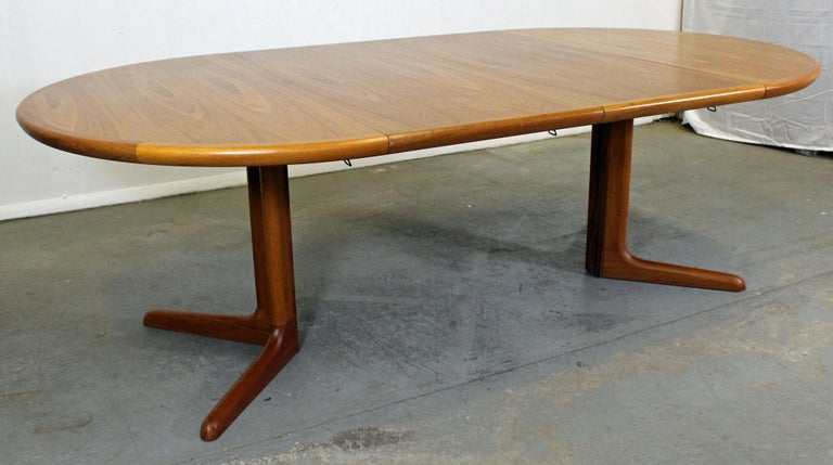 Offered Is A Danish Modern Round Extendable Teak Dining Table Made By