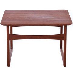 Danish Modern Sleigh Based Occasional Table in Teak