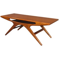 Danish Modern Smile Coffee Table in Teak by Johannes Andersen for CFC Silkeborg