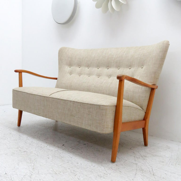 Stained Danish Modern Sofa by DUX, 1940 For Sale