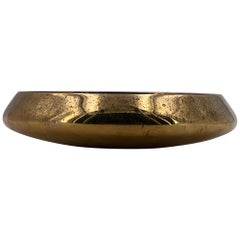 Danish Modern Solid Polished Brass Bowl Catch it All