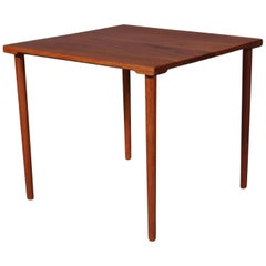 Danish Modern Solid Teak 1960s Square Side Table by Hvidt & Mølgaard-Nielsen