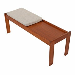 Danish Modern Solid Teak Coffee Table Bench by Komfort