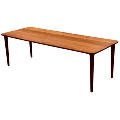 Danish Modern Solid Teak Coffee Table by Rolf Rastad & Adolf Relling for Gustav