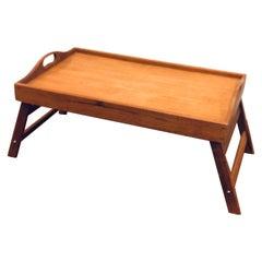 Danish Modern Solid Teak Folding Bed / Breakfast Tray