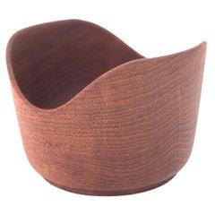 Danish Modern Solid Teak Hand Turned Bowl by Kesa Denmark