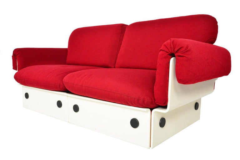 20th Century Danish Modern Space Age Loveseat For Sale