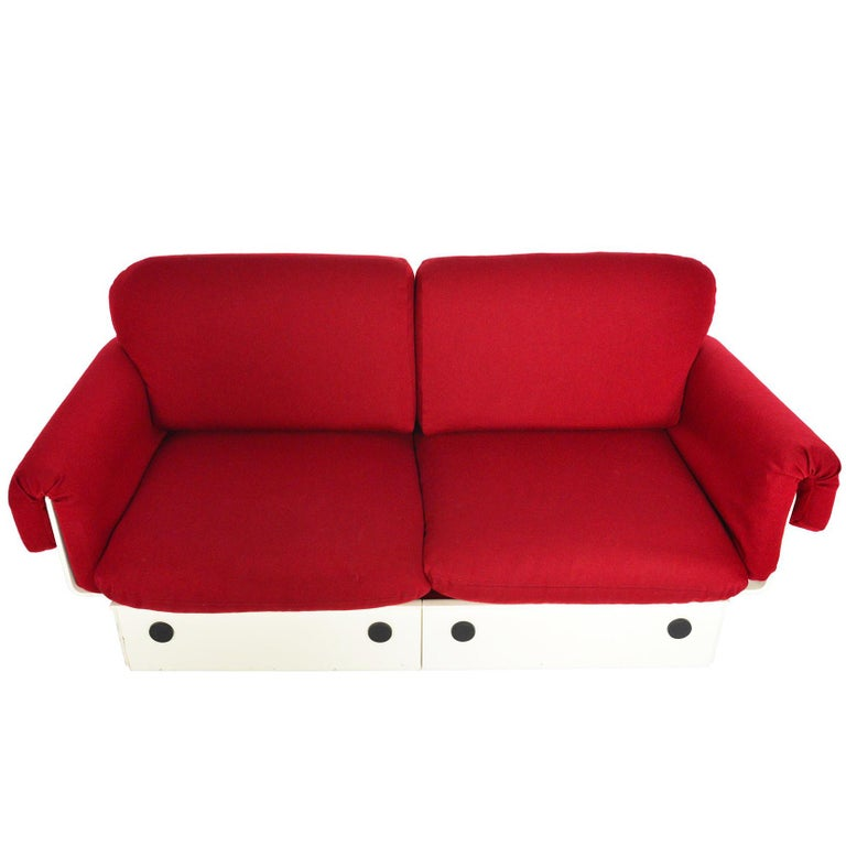 Danish Modern Space Age Loveseat For Sale