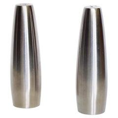 Danish Modern Stainless Steel Salt & Pepper Shakers Dansk Design, Ihq Danmark