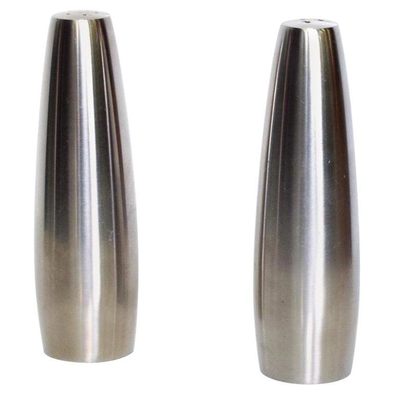 Danish Modern Stainless Steel Salt And Pepper Shakers Dansk Design Ihq Danmark For Sale At 1stdibs