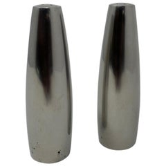 Danish Modern Stainless Steel Salt and Pepper Shakers Dansk Design, Ihq Denmark