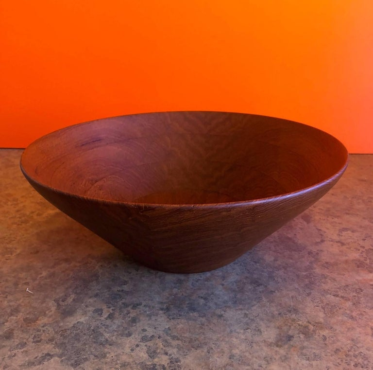 Danish Modern Staved Teak Bowl by Digsmed For Sale 4