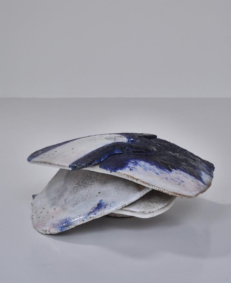 Danish Modern Stoneware Abstract Sculpture by Ole Bjørn Krüger, 1960s For Sale 3
