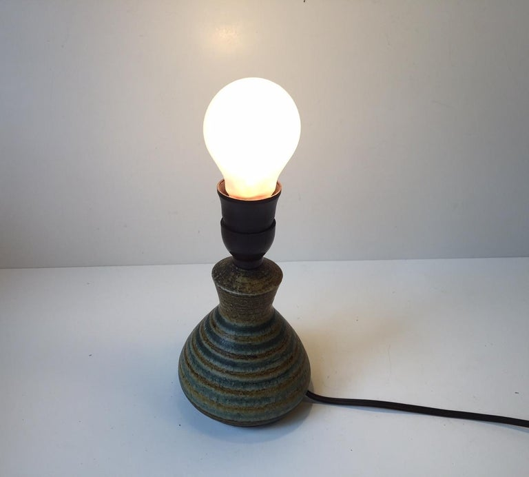 Mid-20th Century Danish Modern Stoneware Table Lamp by Johannes Andersen, 1960s For Sale