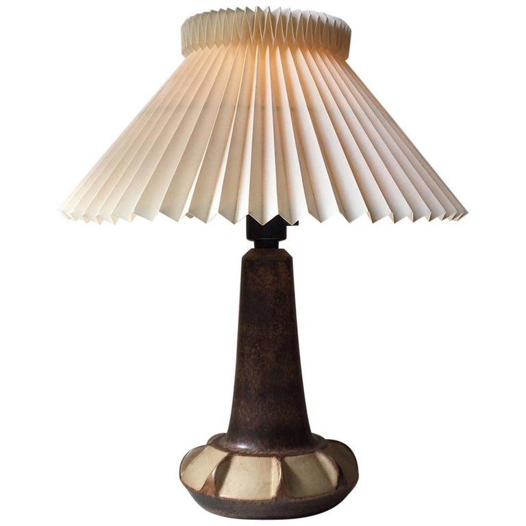 Danish Modern Stoneware Table Lamp from Michael Andersen & Son, 1970s For Sale