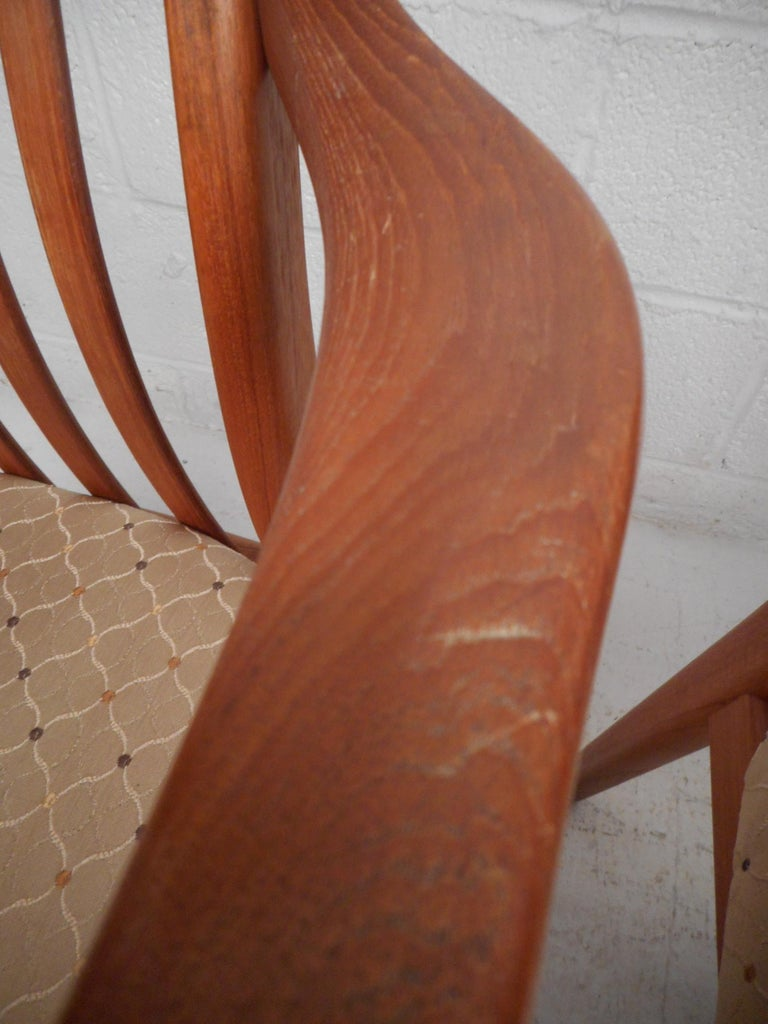 Danish Modern Style Dining Chairs, Set of 6 For Sale 6