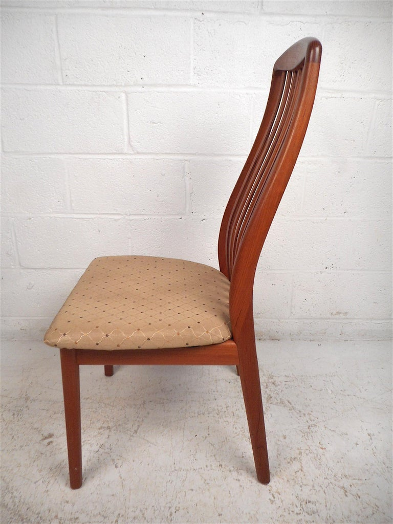 Danish Modern Style Dining Chairs, Set of 6 For Sale 2