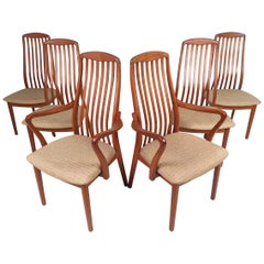 Danish Modern Style Dining Chairs, Set of 6