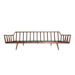 Danish Modern Style Mel Smilow Rail Back Sofa