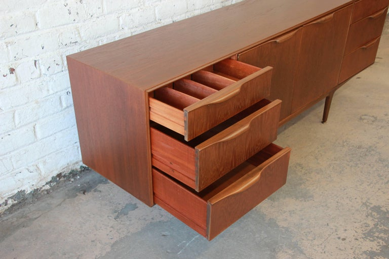 Danish Modern Style Teak Credenza by A.H. McIntosh For Sale 1