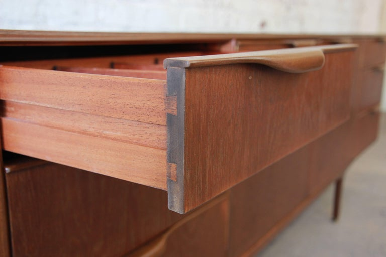 Danish Modern Style Teak Credenza by A.H. McIntosh For Sale 3
