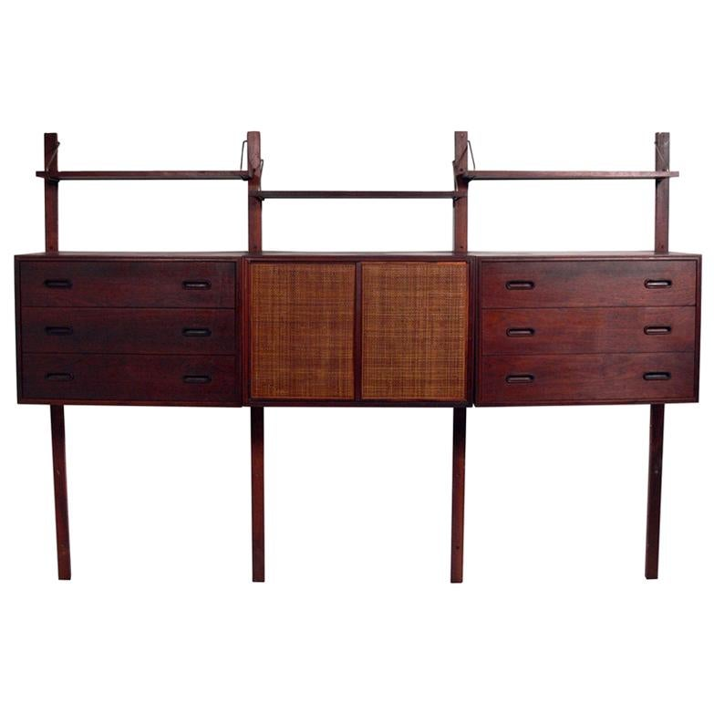 Danish Modern Style Wall Unit by Founders