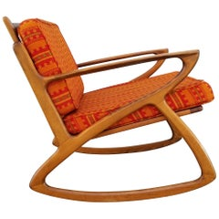 "Danish Modern Style ""Z"" Rocking Chair, 1950s"