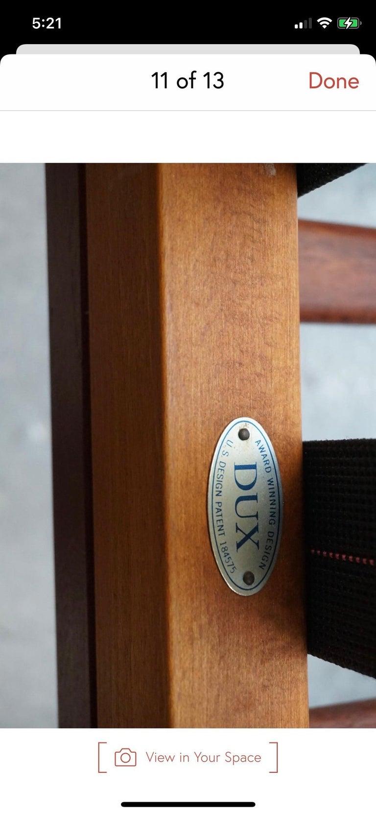 Danish Modern Swedish Folke Ohlsson DUX Scissor Chair For Sale 4