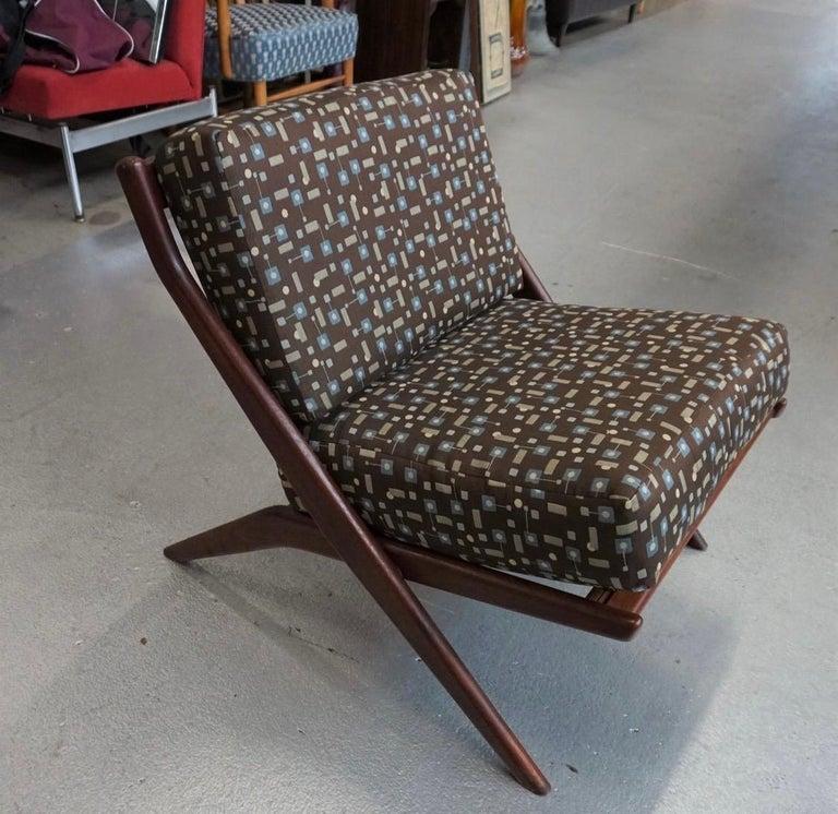 Danish Modern Swedish Folke Ohlsson DUX Scissor Chair For Sale 5