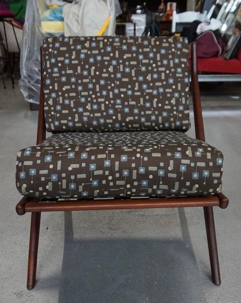 Danish Modern Swedish Folke Ohlsson DUX Scissor Chair For Sale 6