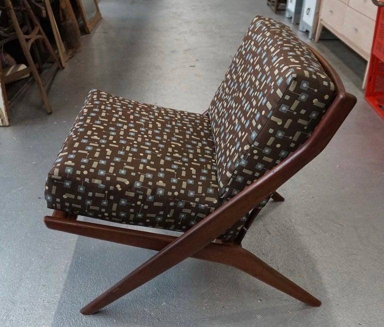 Scandinavian Modern Danish Modern Swedish Folke Ohlsson DUX Scissor Chair For Sale