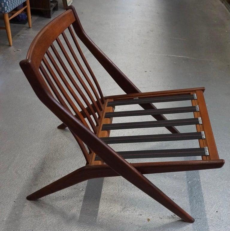 Mid-20th Century Danish Modern Swedish Folke Ohlsson DUX Scissor Chair For Sale