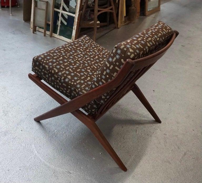 Danish Modern Swedish Folke Ohlsson DUX Scissor Chair For Sale 2
