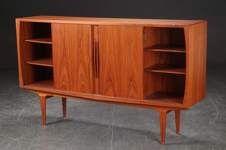 Mid-Century Modern Danish Modern Tall Midcentury Teak Sideboard or Credenza in Teak For Sale
