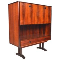 Danish Modern Tall Rosewood Bar