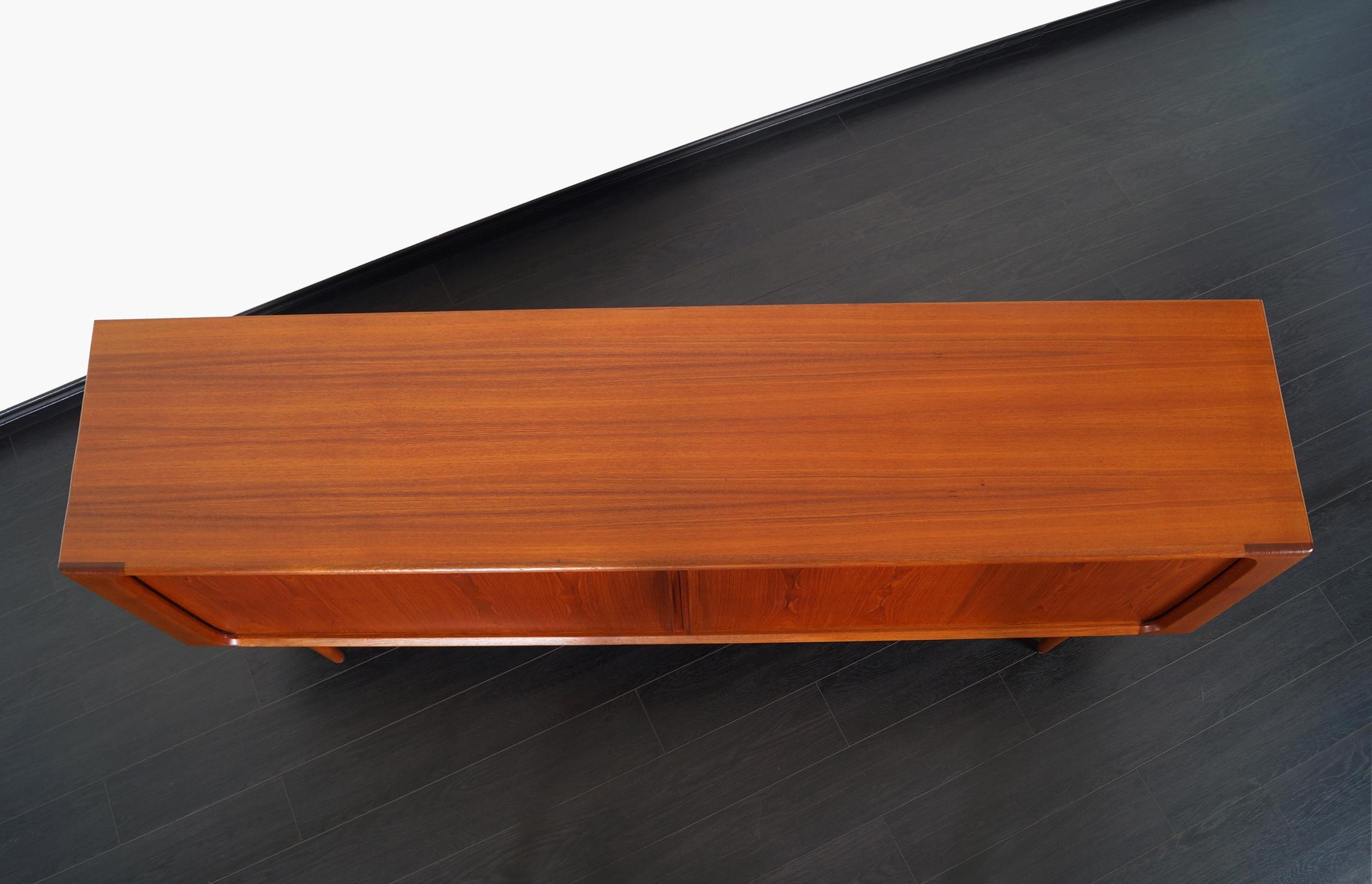Credenza Danish Modern : Danish modern tambour door credenza by bernhard pedersen and son