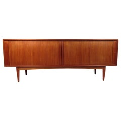 Danish Modern Tambour Door Credenza by Bernhard Pederson and Son