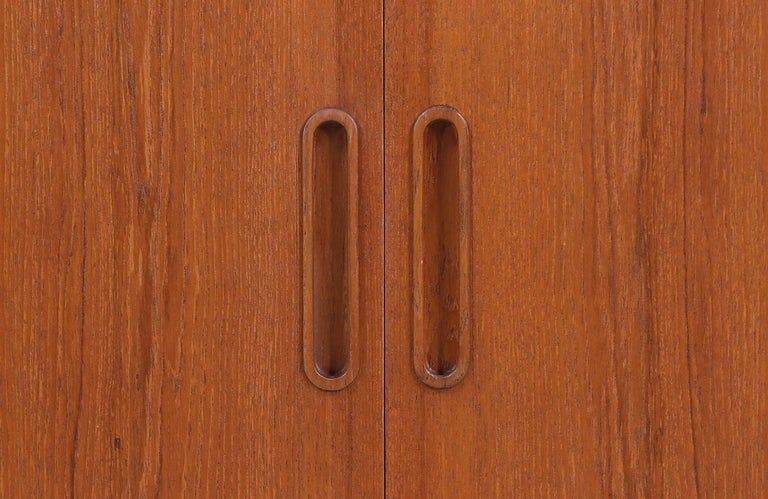 Danish Modern Tambour-Door Credenza by Carlo Jensen for Hundevad & Co. For Sale 4