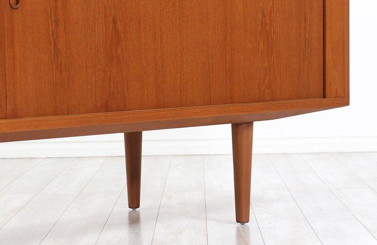 Danish Modern Tambour-Door Credenza by Carlo Jensen for Hundevad & Co. For Sale 1