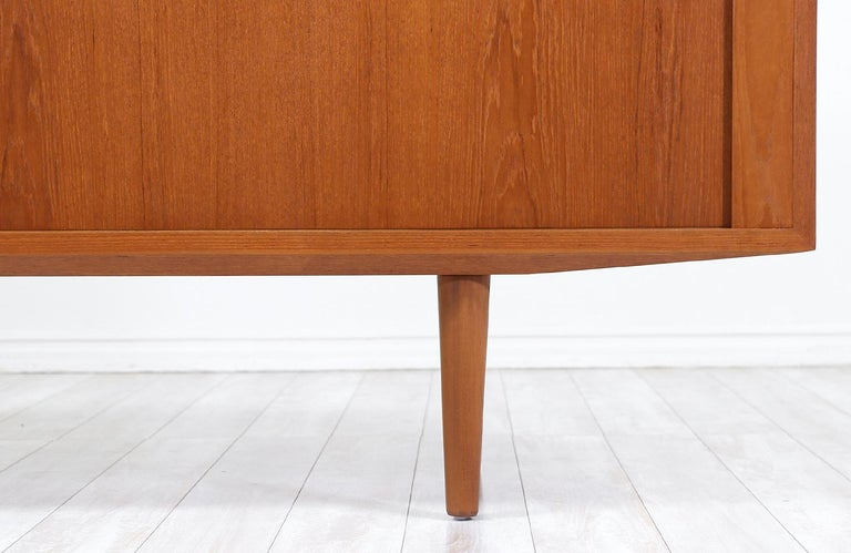 Danish Modern Tambour-Door Credenza by Carlo Jensen for Hundevad & Co. For Sale 2