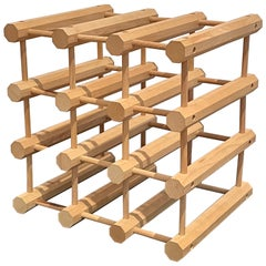 Danish Modern Teak 12 Bottle Wine Rack or Holder by Nissen Langaa
