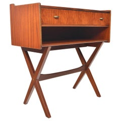 Danish Modern Teak and Brass X-Form Chest