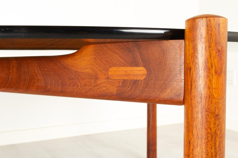 Danish Modern Teak and Glass Coffee Table by Komfort, 1960s For Sale 6