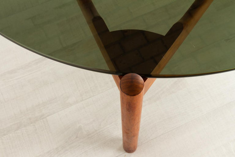 Danish Modern Teak and Glass Coffee Table by Komfort, 1960s For Sale 8