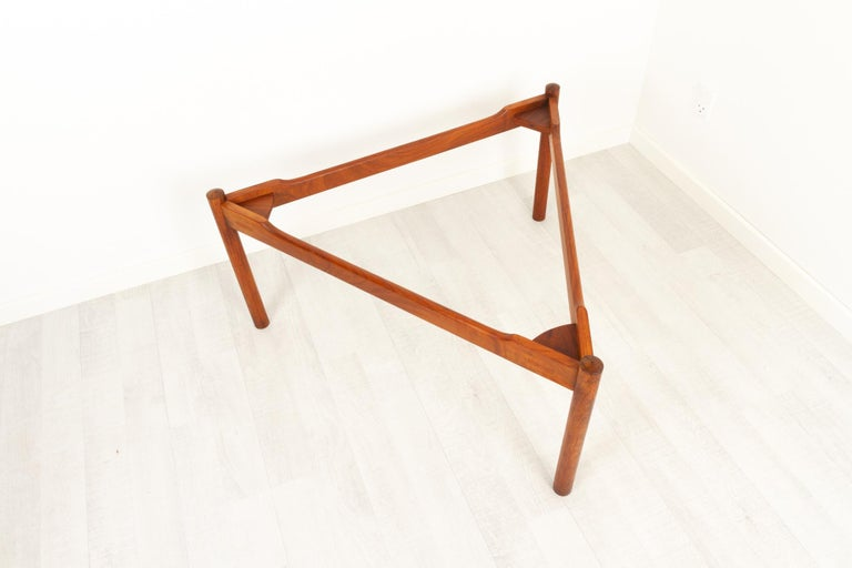 Danish Modern Teak and Glass Coffee Table by Komfort, 1960s For Sale 9